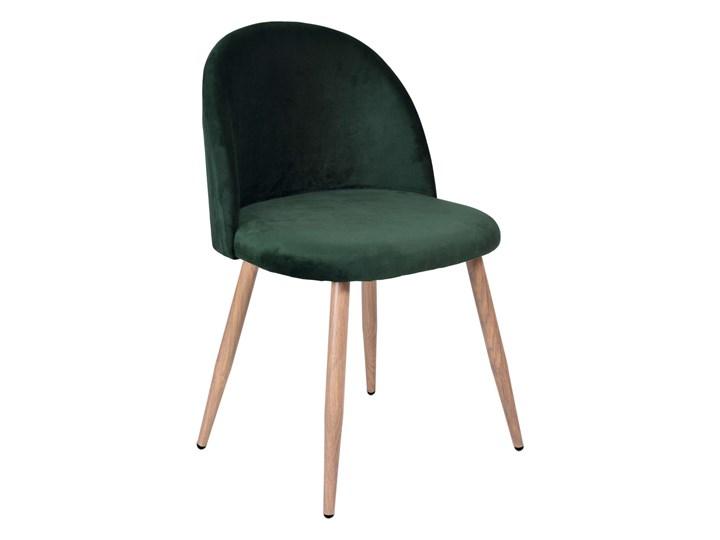 Krzesło tapicerowane Jazz Velvet ciemnozielony Tkanina Tkanina Styl Glamour Tkanina Styl Nowoczesny
