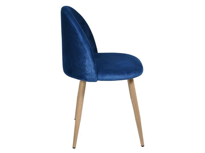 Krzesło tapicerowane Jazz Velvet granatowy Welur Metal Krzesło inspirowane Wysokość 78 cm Wysokość 79 cm Szerokość 49 cm Tkanina Tworzywo sztuczne Drewno Głębokość 48 cm Kategoria Krzesła kuchenne