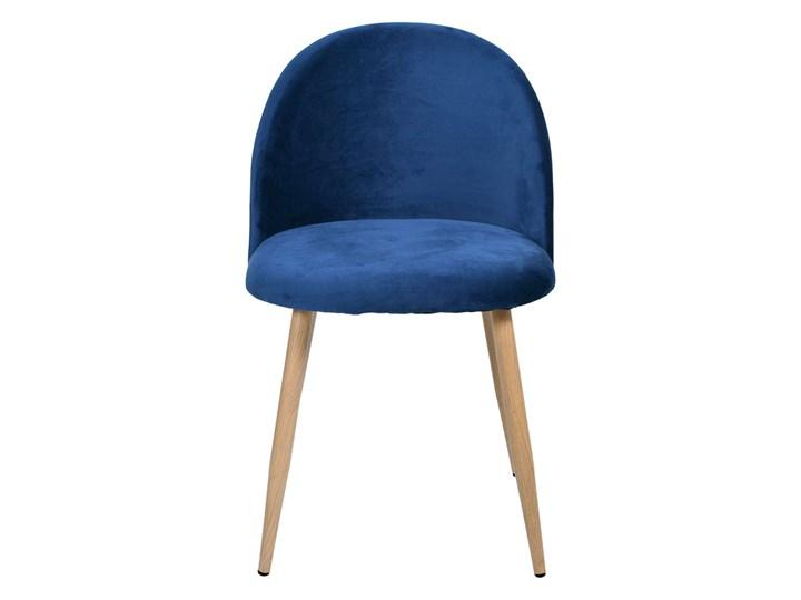 Krzesło tapicerowane Jazz Velvet granatowy Tworzywo sztuczne Tkanina Szerokość 49 cm Kategoria Krzesła kuchenne Drewno Wysokość 79 cm Wysokość 78 cm Głębokość 48 cm Welur Metal Krzesło inspirowane Styl Nowoczesny