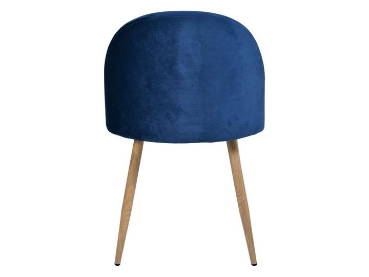 Krzesło tapicerowane Jazz Velvet granatowy Drewno Welur Wysokość 79 cm Krzesło inspirowane Metal Głębokość 48 cm Wysokość 78 cm Tkanina Tworzywo sztuczne Szerokość 49 cm Styl Nowoczesny