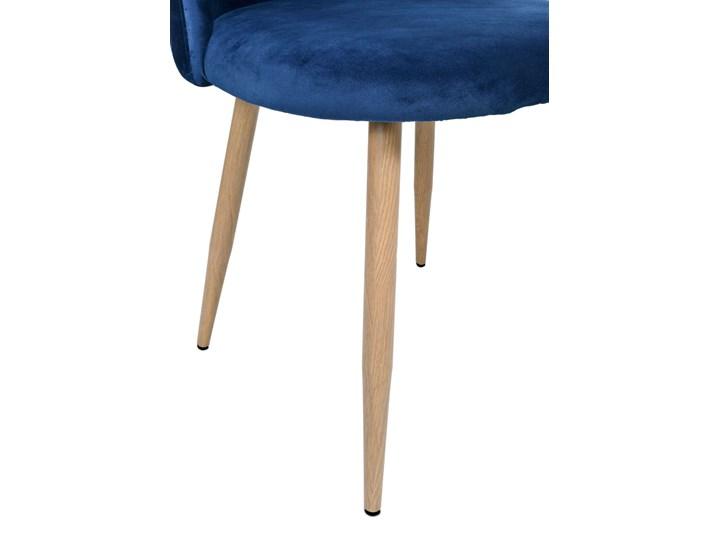 Krzesło tapicerowane Jazz Velvet granatowy Tworzywo sztuczne Pomieszczenie Biuro i pracownia Tkanina Szerokość 49 cm Metal Wysokość 79 cm Głębokość 48 cm Welur Krzesło inspirowane Wysokość 78 cm Drewno Styl Nowoczesny