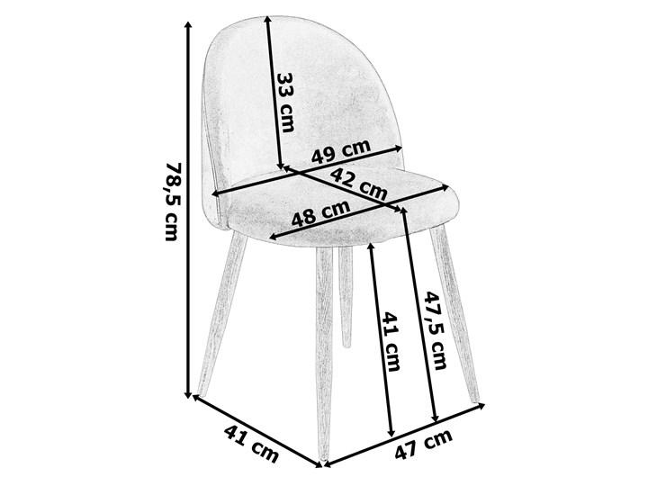 Krzesło tapicerowane Jazz Velvet granatowy Szerokość 49 cm Welur Krzesło inspirowane Metal Tworzywo sztuczne Wysokość 79 cm Drewno Wysokość 78 cm Tkanina Głębokość 48 cm Pomieszczenie Pokój nastolatka