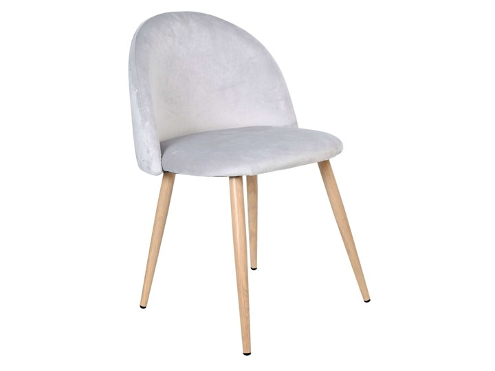 Krzesło tapicerowane Jazz Velvet srebrno-szary Styl Glamour Tkanina Tkanina Tkanina Styl Nowoczesny