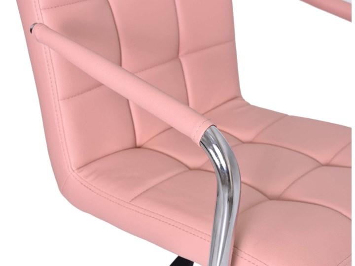 Fotel obrotowy Ritmo- różowy Szerokość 42 cm Głębokość 39 cm Wysokość 98 cm Metal Szerokość 54 cm Skóra ekologiczna Tkanina Głębokość 54 cm Pomieszczenie Biuro i pracownia