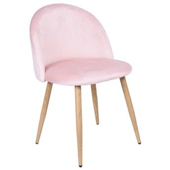 Krzesło tapicerowane Jazz Velvet różowy