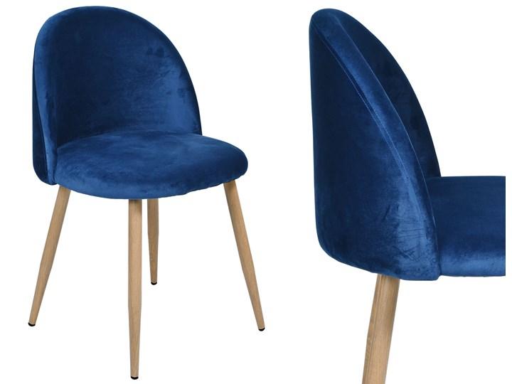 Krzesło tapicerowane Jazz Velvet granatowy Metal Tworzywo sztuczne Welur Krzesło inspirowane Głębokość 48 cm Tkanina Wysokość 79 cm Wysokość 78 cm Szerokość 49 cm Drewno Pomieszczenie Biuro i pracownia