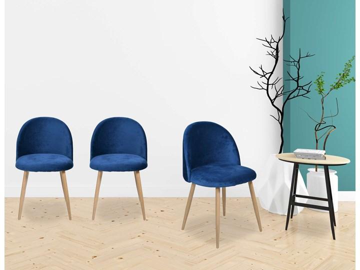 Krzesło tapicerowane Jazz Velvet granatowy Tworzywo sztuczne Tkanina Wysokość 79 cm Wysokość 78 cm Pomieszczenie Biuro i pracownia Drewno Metal Krzesło inspirowane Głębokość 48 cm Welur Szerokość 49 cm Pomieszczenie Pokój nastolatka