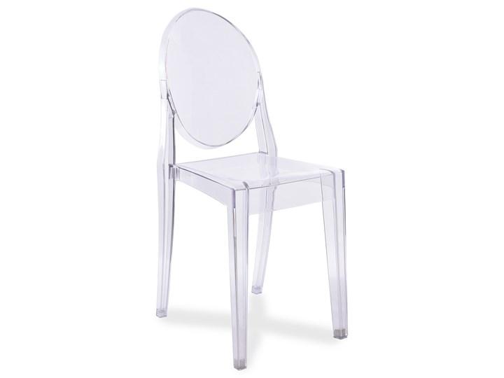 Krzesło Home Queen przezroczyste Wysokość 91 cm Szerokość 38 cm Wysokość 44 cm Tworzywo sztuczne Szerokość 35 cm Głębokość 40 cm Kolor Przezroczysty