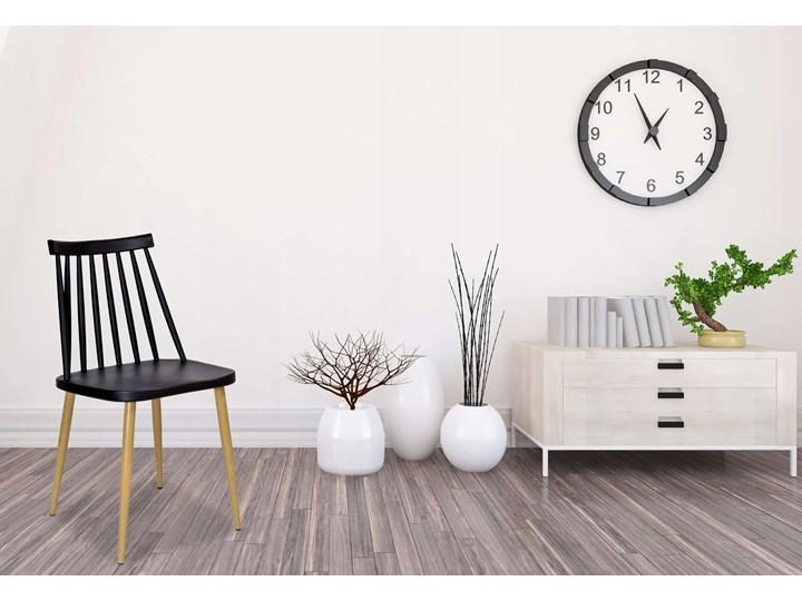 Krzesło KENDO czarne Szerokość 42 cm Wysokość 78 cm Metal Głębokość 37 cm Tworzywo sztuczne Kolor Czarny