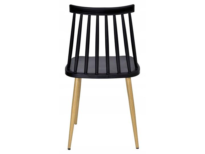 Krzesło KENDO czarne Głębokość 37 cm Wysokość 78 cm Metal Tworzywo sztuczne Szerokość 42 cm Styl Skandynawski