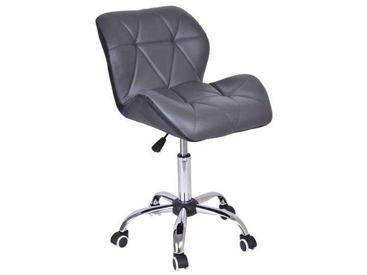 Krzesło biurowe obrotowe MORIS czarno-szare Tkanina Fotel obrotowy Metal Tkanina Metal Fotel tradycyjny Metal Fotel biurowy Tkanina Fotel obrotowy