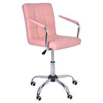 Fotel obrotowy Ritmo- różowy