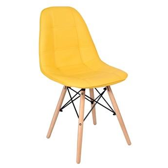 Krzesło tapicerowane DSW Lyon - żółty