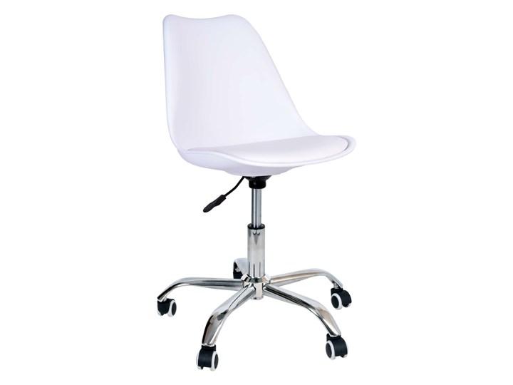 Fotel obrotowy Elmo - biały Fotel na kółkach Krzesło biurowe Fotel biurowy Skóra ekologiczna Skóra ekologiczna Skóra ekologiczna Fotel tradycyjny