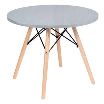 Stolik okrągły Paris 60cm - srebrno-szary