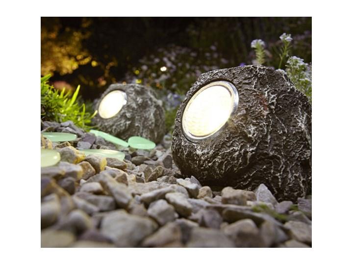 Dekoracyjne Lampy Solarne Led W Kształcie Kamieni 2 Sztuki