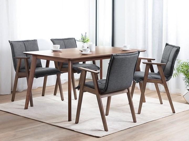 Stół do jadalni ciemne drewno 150 x 90 cm prostokątny styl retro Płyta MDF Długość 150 cm  Kategoria Stoły kuchenne