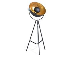 BELIANI Lampa podłogowa metalowa czarno-złota THAMES II