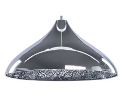 BELIANI Lampa wisząca metalowa srebrna ISKAR