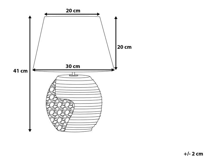 Lampka nocna czarna ze srebrnym ceramiczna ozdobna Styl Nowoczesny Lampa z kloszem Lampa nocna Lampa dekoracyjna Kategoria Lampy stołowe