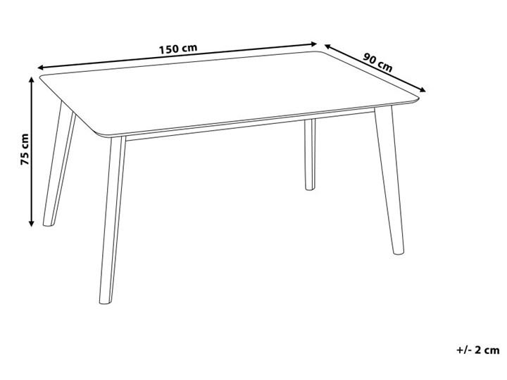 Stół do jadalni ciemne drewno 150 x 90 cm prostokątny styl retro Długość 150 cm  Płyta MDF Kategoria Stoły kuchenne