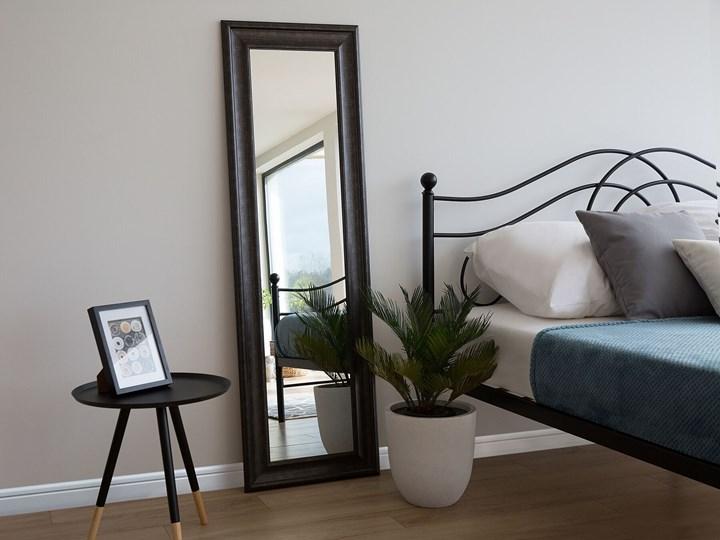 Lustro ścienne wiszące czarne 51 x 141 cm syntetyczna rama styl skandynawski minimalistyczny Prostokątne Styl Nowoczesny