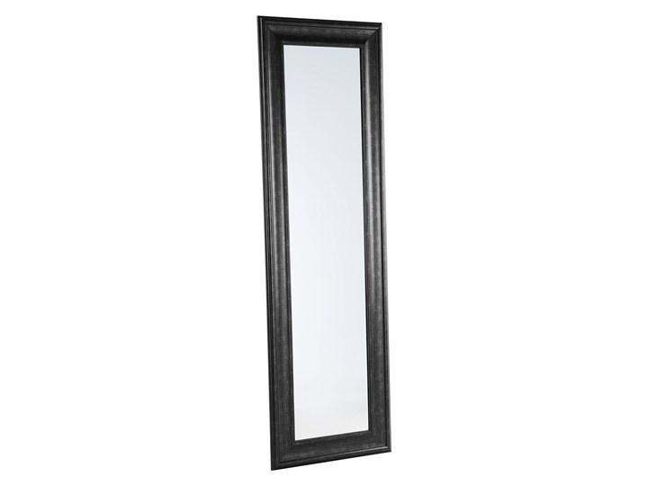 Lustro ścienne wiszące czarne 51 x 141 cm syntetyczna rama styl skandynawski minimalistyczny Prostokątne Kolor Czarny