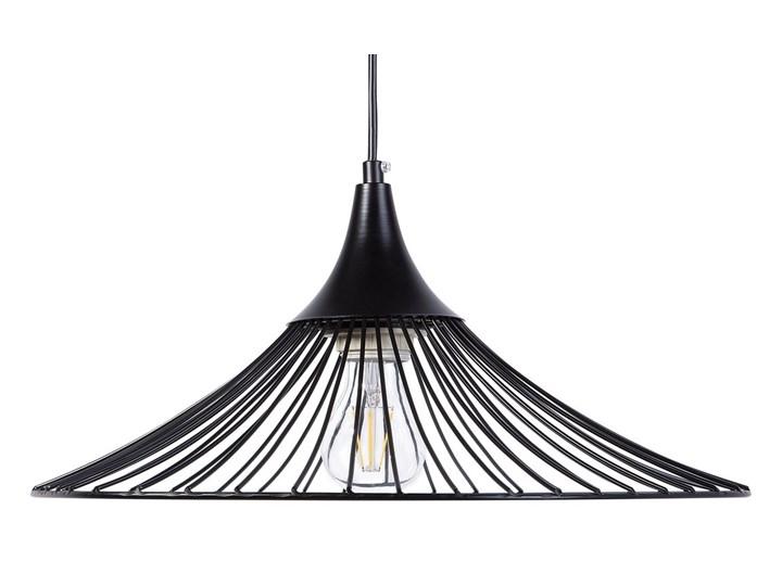 Lampa sufitowa wisząca czarna metalowa okrągły klosz industrialna kuchnia sypialnia Lampa druciana Lampa inspirowana Kolor Czarny