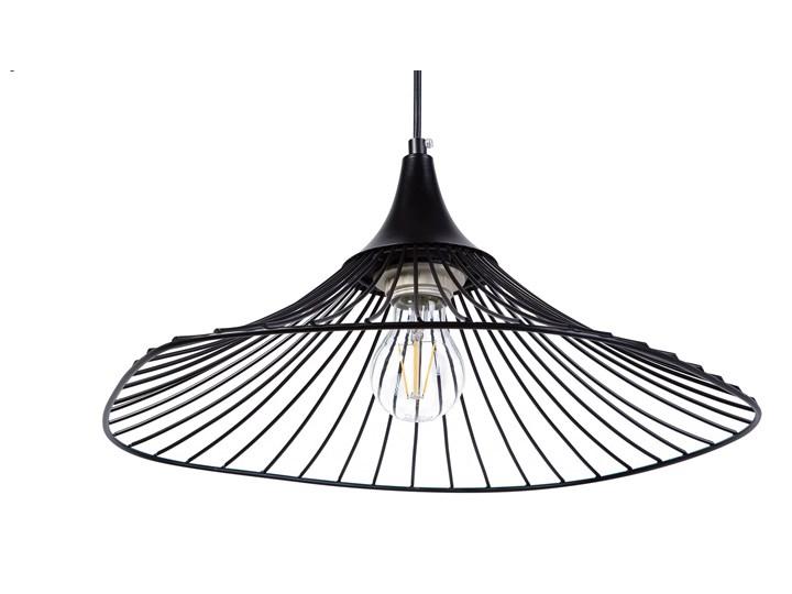 Lampa sufitowa wisząca czarna metalowy klosz industrialny design sypialnia kuchnia Lampa z kloszem Lampa druciana Kategoria Lampy wiszące