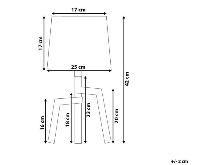 Lampa stołowa biała jasne drewno 42 cm trójnóg skandynawska Lampa z abażurem Kategoria Lampy stołowe Lampa nocna Kolor Biały