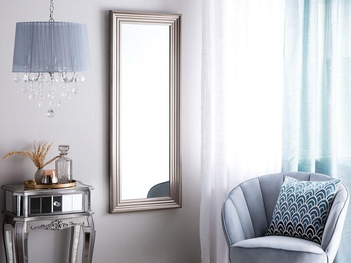 Lustro ścienne wiszące srebrne 50 x 130 cm łazienka sypialnia toaletka Prostokątne Lustro z ramą Kolor Srebrny Kategoria Lustra