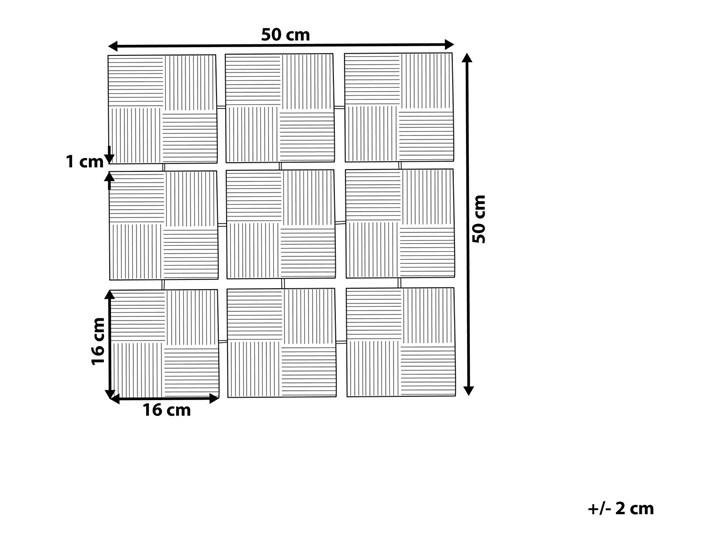 Dekoracja ścienna wisząca biało-czarna metalowa 50 x 50 cm geometryczna ozdoba w kwadraty Pomieszczenie Sypialnia Styl Klasyczny