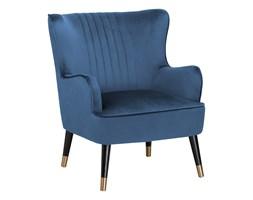 BELIANI Fotel uszak welurowy niebieski VARBERG