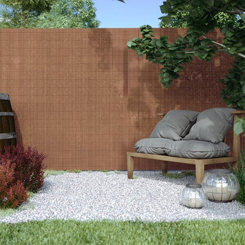 Płotek ogrodowy PVC, EKO, Brązowy, Brązowy, wysokość 90cm x długość 300cm