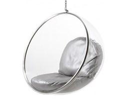 Fotel Monopoli bańka wiszący srebrny Inspirowany bubble chair
