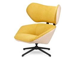 Fotel Bonucci Nowoczesny Designerski fotel slow malabo - Żółty