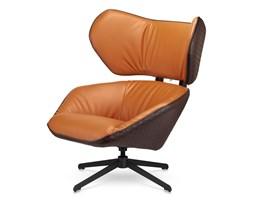 Fotel Bonucci Nowoczesny Designerski fotel slow malabo - Brązowy