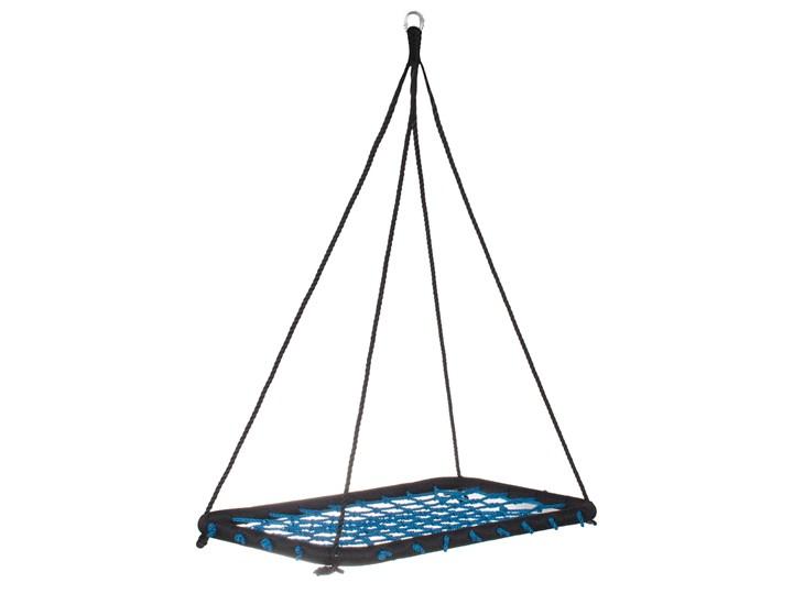 Bocianie gniazdo prostokątne 140 cm czarno niebieski