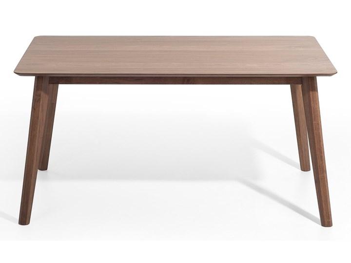 Stół do jadalni ciemne drewno 150 x 90 cm prostokątny styl retro Kolor Brązowy Płyta MDF Długość 150 cm  Styl Nowoczesny