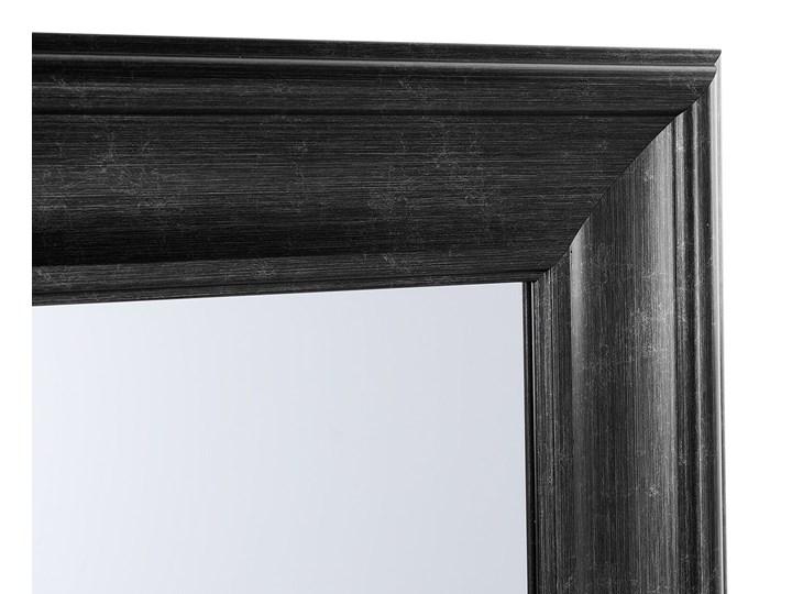 Lustro ścienne wiszące czarne 51 x 141 cm syntetyczna rama styl skandynawski minimalistyczny Prostokątne Pomieszczenie Sypialnia