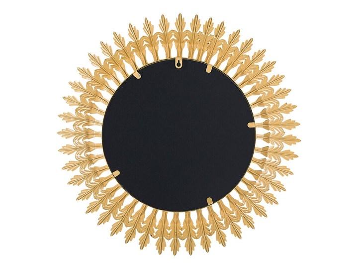 Lustro ścienne wiszące złote 60 cm salon sypialnia Okrągłe Kolor Złoty Lustro z ramą Styl Glamour