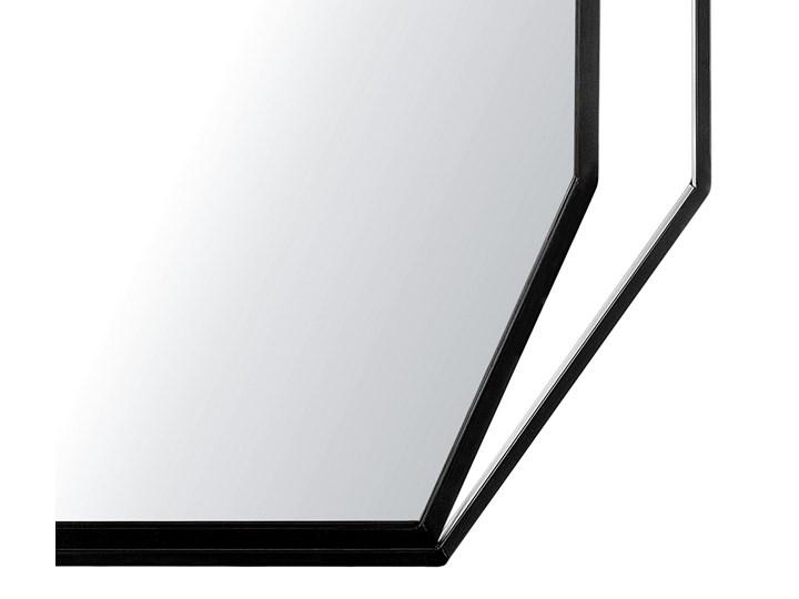 Lustro ścienne wiszące ośmiokątne szare metalowe 80 x 60 cm styl nowoczesny minimalistyczny Styl Klasyczny Styl Glamour