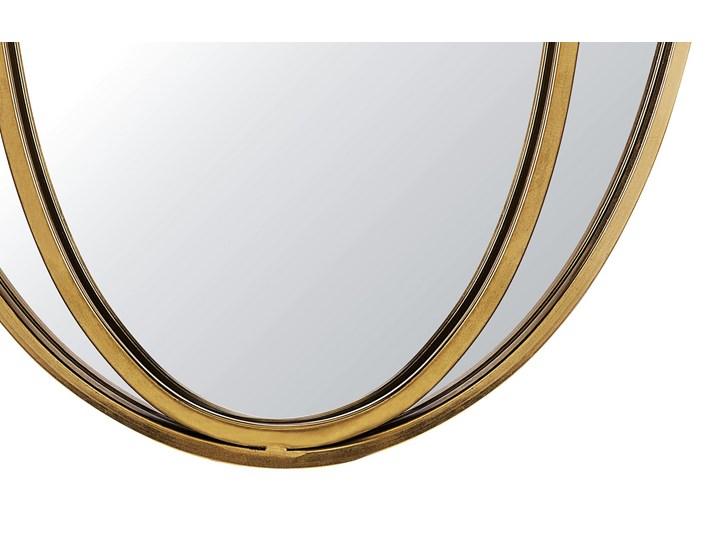 Lustro ścienne wiszące owalne złote 90 x 55 cm dekoracja ścienna do salonu glamour Kolor Złoty