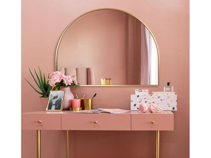 Lustro Portal – złoty łuk Lustro z ramą Ścienne Nieregularne Pomieszczenie Sypialnia Pomieszczenie Przedpokój