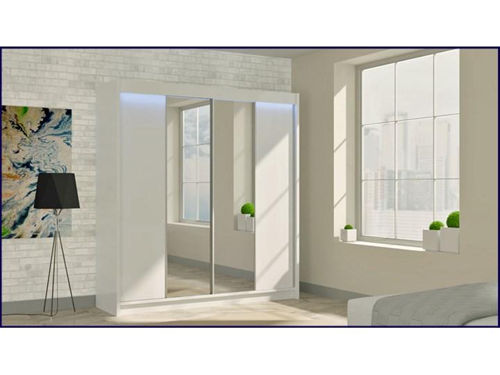 Szafa przesuwna Grace 3X - biała Drewno Pomieszczenie Przedpokój Pomieszczenie Garderoba