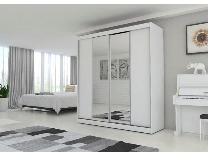 Szafa przesuwna Grace 3X - biała Rodzaj drzwi Przesuwne Drewno Kolor Biały