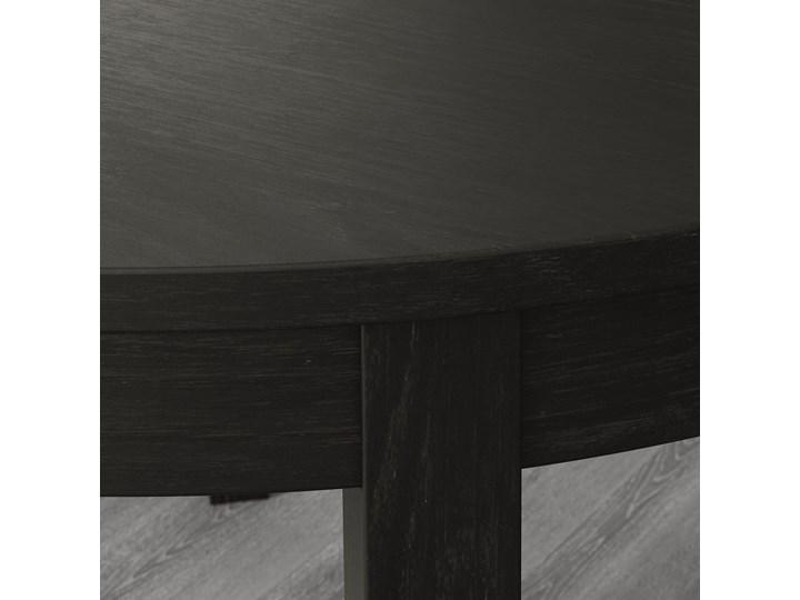 BJURSTA Stół rozkładany Długość 166 cm Długość 115 cm Płyta MDF Szerokość 115 cm Wysokość 74 cm Kolor Czarny