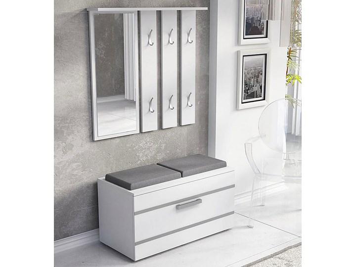 Garderoba z szafką na buty Malea - biała Kolor Biały Kategoria Zestawy mebli do sypialni