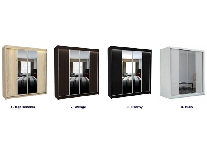 Szafa przesuwna Grace 3X - wenge Drewno Pomieszczenie Garderoba