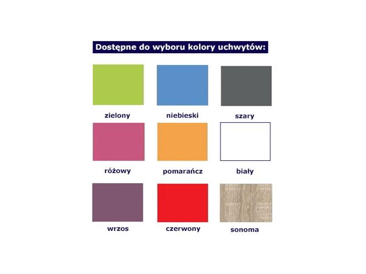 Nowoczesny regał z kolorowymi uchwytami Florentino 8X - dąb sonoma Uniwersalne Drewno Szerokość 80 cm Wysokość 160 cm Kolor Biały